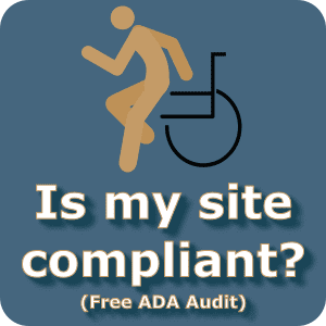 Is my site compliant? Free ADA audit